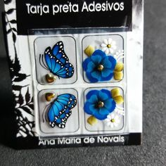 Butterfly Nail Art, Nail Jewels, Gem Nails, Stone Beads, Pedicure, Design Art, Nail Designs, Instagram Posts, Nice Nails
