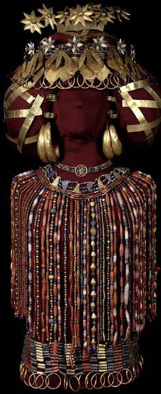 Sumerian Queen Puabi jewellery