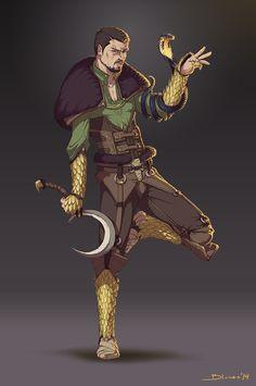 Snake warrior on Behance