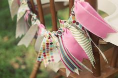 Fabric Pennant 1st Birthday Party! - Vintage Fabric Party Ideas | Kara's Party Ideas