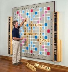 I want a scrabble wall!!!