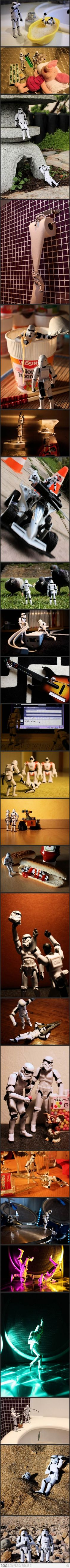 Stormtrooper - Moments of life. I'm not a rabid Star Wars fan, but this gives me good giggles and nostalgia for the first time I saw Return of the Jedi, in the theater when I was almost 6…and I really do remember seeing it in the theater.