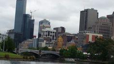 Melbourne City Skyline.