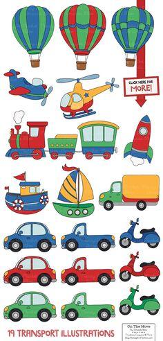 Transportation Clipart & Patterns - Illustrations - 2