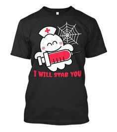 Nurse ghost I will stab you funny halloween costume Halloween Costume Scary Halloween Pumpkins, Costume Shirts, Funny Halloween Costumes, You Funny, Latest Trends, Shirt Designs, Horror, October, Cute Outfits
