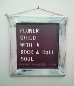 Flower Child with a Rock and Roll Soul