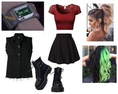 Zabrina is the younger sister of Zed and the older sister to Zoey. Movie Inspired Outfits, Themed Outfits, Girls Fashion Clothes, Girl Fashion, Fashion Outfits, Polyvore Outfits, Greaser Outfit, Zombie Clothes, Spy Outfit