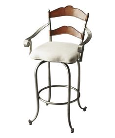 Look at this Iron Bar Stool on #zulily today!