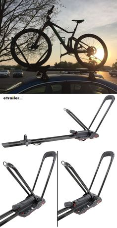 This wheel-mount carrier lets you transport 1 bike on your roof rack crossbars. Pivoting wheel hoops hold bike by the front wheel, and TorqueRight kno Truck Bed Bike Rack, Truck Mods, Road Bikes, Roof Rack, Cool Trucks, Mountain Biking, Transportation, Bicycle, Ford