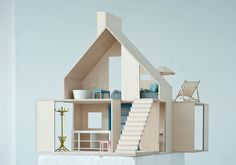 Boomini wood dollhouse brings sophisticated Scandinavian design to the playroom