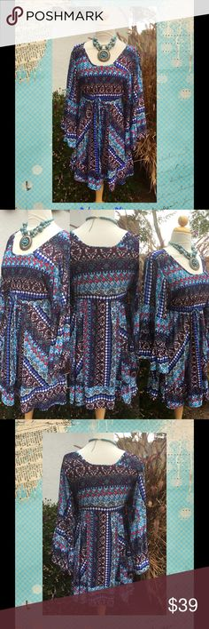 Color Me Beautiful Bohemian Style Dress...Must have so Beautiful in Color... Ladys World Dresses Mini
