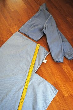 dress refashion, shirt dress