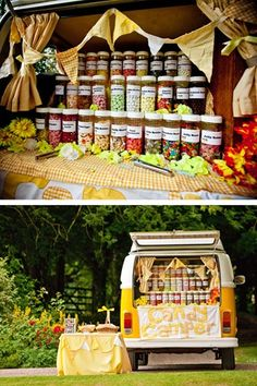 The Candy Camper - a fun, creative way to do a wedding candy buffet. My Website //www.simplycoutureweddings.com