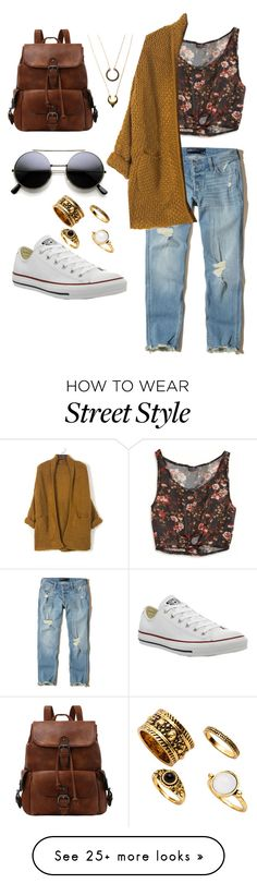 """""""Chill out street style"""" by annamiadl on Polyvore featuring Converse, Hollister Co., American Eagle Outfitters and WithChic"""