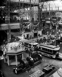 Transportation Building, 1893 World Columbian Exposition, Chicago, Illinois Nikola Tesla, Old Pictures, Old Photos, Vintage Pictures, Chicago Art, Chicago Illinois, Chicago School, Fosse Commune, Monuments
