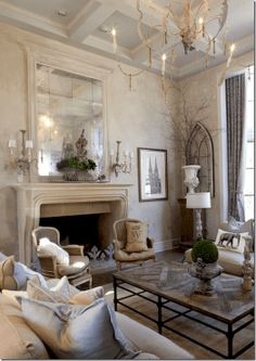 Beautiful French Country Living Room Ideas (83)