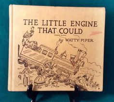 1961-Childrens-Book-The-Little-Engine-That-Could-Hardcover-by-Watty-Piper