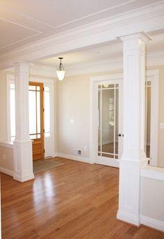 white craftsman house | white craftsman columns Anthony Street House - Robert ... | Entry