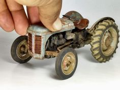 8n Ford Tractor, Ford Trucks, Antique Tractors, Vintage Tractors, Trump Models, Nate The Great, Miniature Cars, Diecast Models, Old Toys
