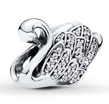 New 2015 Winter Collection 925 Authentic Pandora Charm Sterling Silver 2015 Majestic Swan CZ Charm Beads..Pandora ..Stocking Stuffer