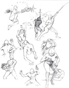 Action poses 3 by *shinsengumi77 on deviantART