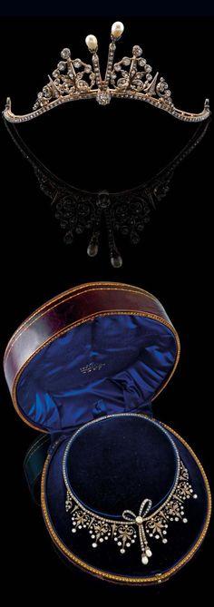 Rosamaria G Frangini   High Antique Jewellery   Vintage Jewellery   Pearl Tiara