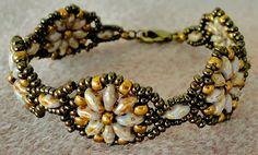 Linda's Crafty Inspirations: Bracelet of the Day: Fun Floral Bracelet Variation