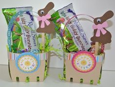 Berry Basket Die Cut | Easter Baskets using berry container die cut by Lifestyle Crafts