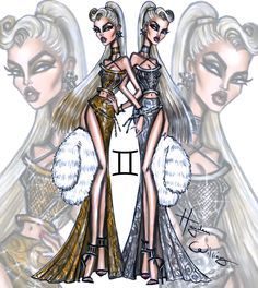 'Seeing Signs' by Hayden Williams - Gemini (Cool Sketches Hayden Williams) Hayden Williams, Zodiac Art, Zodiac Signs, Zodiac Symbols, 12 Zodiac, Signes Zodiac, Arte Fashion, Creation Art, Illustration Mode