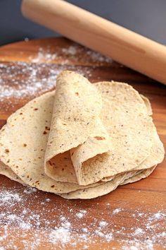 Homemade Wholemeal Tortillas by Sugar Salt Magic