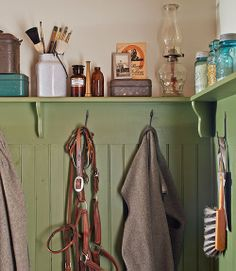 Laundry room on pinterest laundry rooms primitive Benjamin moore country green