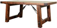 """Amish Outlet Store : 42"""" x 72"""" Benchmark Table in Ruffsawn"""