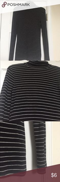 Black and white turtle neck. Small. Only worn once! In great condition and very clean. Really cute if paired with a high waisted skirt and tights for the fall. Non-smoking home. Mossimo Supply Co. Tops