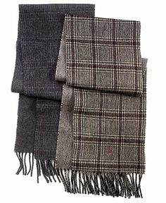 Polo Ralph Lauren Scarf, Wool-Blend Plaid Scarves - Men - Macy's (I'd call this unisex instead of men's because I like these as well)