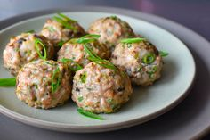 These flavor-packed Paleo and Wonton Meatballs remind me of my mom's wontons, and my family loves them, too—including even my pickiest son! Nom Nom Paleo, Wontons, Whole 30 Meatballs, Pork Mushroom, Paleo Diet, Keto, Paleo Food, Diet Foods, Asian