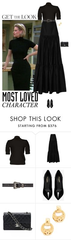 """""""C.C. Babcock"""" by andreearaiciu ❤ liked on Polyvore featuring Carven, Alexis, Yves Saint Laurent and Chanel"""