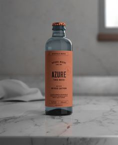 Azure Tonic Water Packaging Design Will Look Great With Gin - Ateriet Water Packaging, Water Branding, Beverage Packaging, Coffee Packaging, Bottle Packaging, Brand Packaging, Packaging Design, Food Packaging, Pretty Packaging