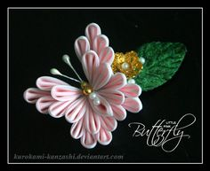 Little Pink Butterfly by ~Kurokami-Kanzashi on deviantART