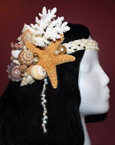 Mermaid shells and starfish headband / headpiece