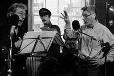 A Liar's Autobiography - The Untrue story of Monty Python's Graham Chapman. Terry Jones and Michael Palin recording his voice overs. Photography by Paul Jeffers