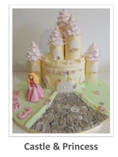 This is a 55 page tutorial which takes you step by step through how to create this full castle cake, with turrets and the princess character. There are also steps on how to line you cake tin and a vanilla cake recipe in US and Metric measurements, how to ice your cake board and