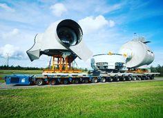 Tranportation of a nacelle at Krammer Windfarm in The Netherlands. #krammer #enercon #nacelle #sarens #windturbine #renewableenergy #windenergy #windenergie #onshore #heavytransport