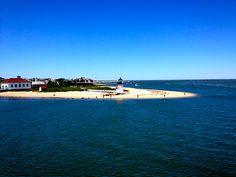 Brant Point Lighthouse on the approach to Nantucket.
