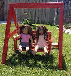 Fun swing set for American girl doll, Maplelea girl doll, our generation doll, journey girl doll, or any 18 inch doll by LittleFancyPantsClos on Etsy