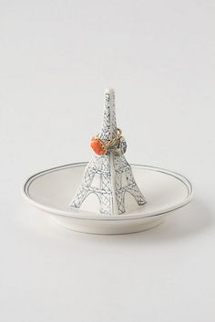 eiffel tower ring dish / anthropologie... how cute is this?
