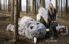 Where the Wild Things are Campaigns - The Mulberry Fall/Winter 2013 Advertisements are Literary (VIDEO)