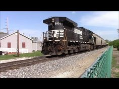 NS Leads Train on the Frankfort Branch in Lafayette Indiana #2 - YouTube