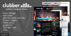 Clubber - Events & Music WordPress Theme