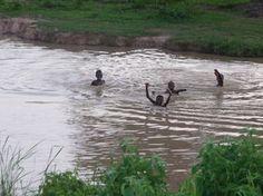 spelen in water