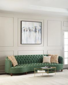 Shop Vaughn Tufted Velvet Sofa from Haute House at Horchow, where you'll find new lower shipping on hundreds of home furnishings and gifts. Sofa Furniture, Luxury Furniture, Furniture Design, Furniture Cleaning, House Furniture, Plywood Furniture, Antique Furniture, Modern Furniture, Velvet Tufted Sofa